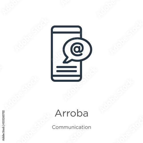 Arroba icon Canvas Print