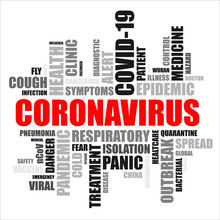 Word Cloud Coronavirus (red An...