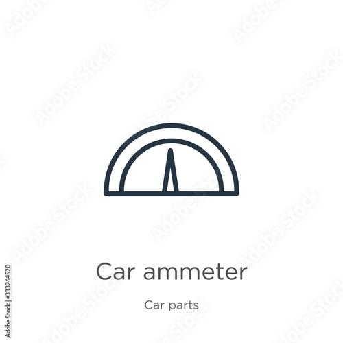 Car ammeter icon Canvas Print