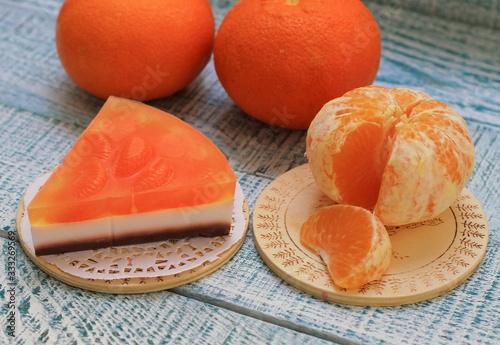 Photo Soap, handmade fragrant tangerine cheesecake
