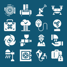 Set Of 16 Air Filled Icons