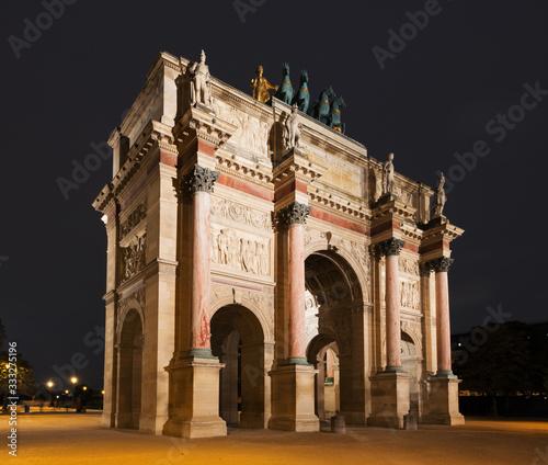 Fototapety, obrazy: Arc de Triomphe du Carrousel in Paris, France
