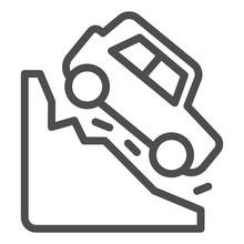 Steep Descent Line Icon. Auto ...
