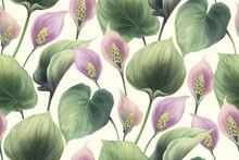 Calla Flowers Seamless Pattern