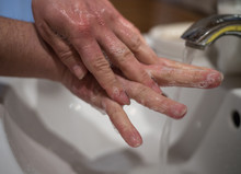 Thorough Washing Of Hands Betw...