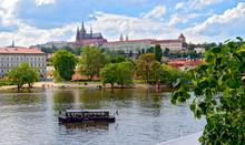 River Vltava And Prague Castle