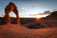 Delicate Arch With Sunstar