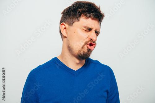 Fotografia Man. disgust