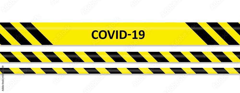 Fototapeta Covid-19 warning