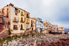 Old Houses On Rocky Coast At C...