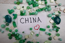 Sign With The Word China In Bl...
