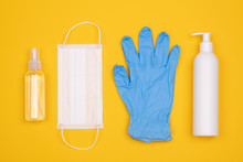 Protective Equipment For Prevention Of Virus Infection Such As Hand Sanitiser, Surgical Mask And Latex Gloves