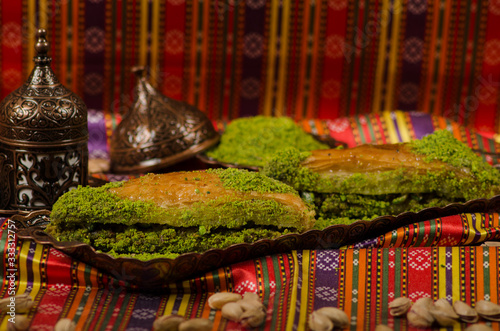 Photo Turkish Dessert, baklava  stock photo