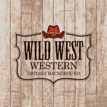 Western Vintage Emblem With A ...
