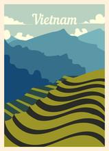 Retro Poster Vietnam City Skyl...