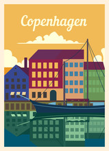 Retro Poster Copenhagen City S...