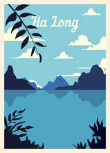 Retro Poster Ha Long City Skyl...
