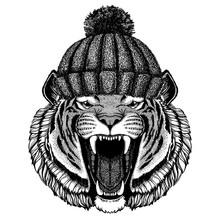 Wild Tiger Cool Animal Wearing...