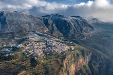 Aerial View Of Delphi, Greece ...