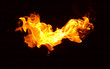 Flame heat fire abstract background