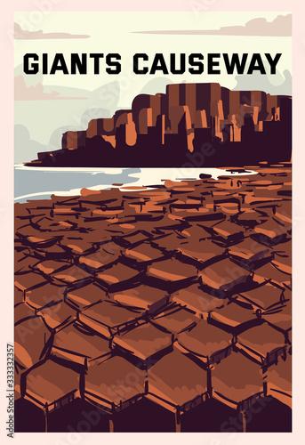 Poster Giants Causeway landscape Fototapet