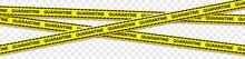 Quarantine Biohazard Vaccine Tape Isolated Transparent Background