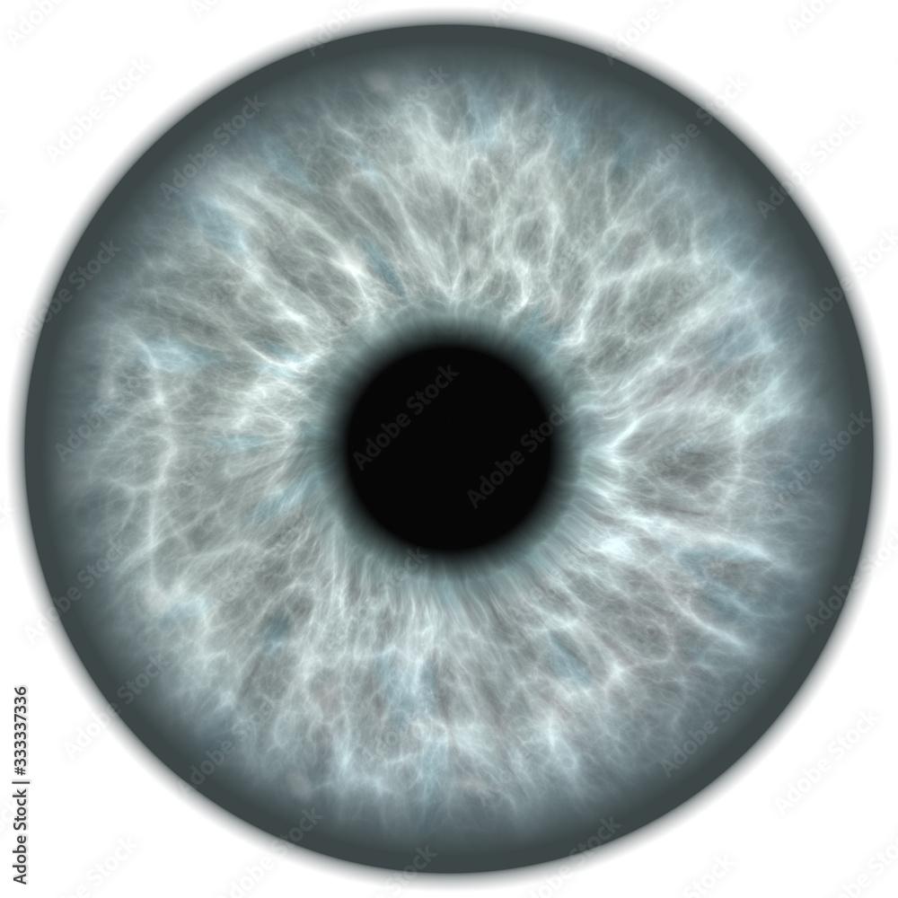 Fototapeta grey isolated human eye iris