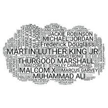 Black Legends Word Cloud Typog...