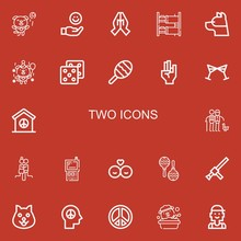 Editable 22 Two Icons For Web ...
