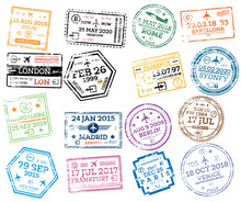Collection Of Passport Stamps ...