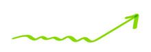 Arrow Doodle Line Green Pointi...