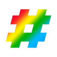 Hash Tag Symbol Alphabet Rainb...