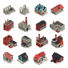 Abandoned Buildings Isometric ...