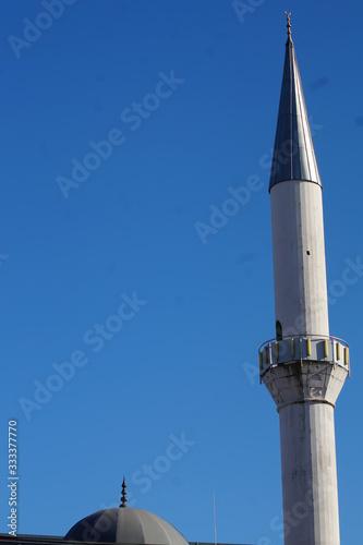 Minarett der Fatih-Moschee in Mülheim an der Ruhr Slika na platnu