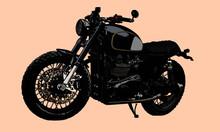 Classic Scrambler Motorcycle.V...