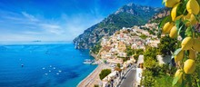Panoramic View Of Positano Wit...