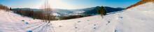 Panorama Of Colorful Winter La...