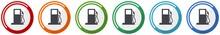 Petrol Icon Set, Flat Design V...