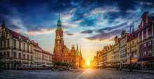 Wroclaw Market Square With Tow...