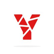 Vector Logo Letter Red Geometr...