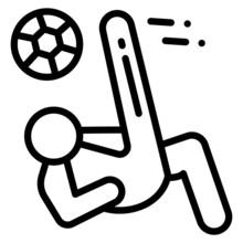 Soccer Kick A Volley Concept, ...