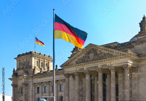 German federal parliament - THe Bundestag Fototapete