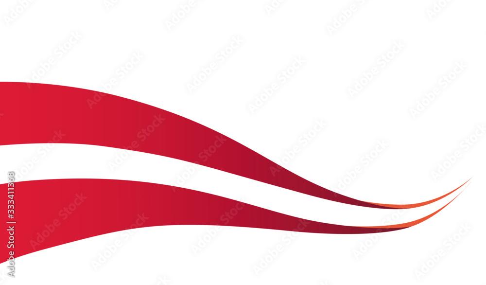Fototapeta Vector illustration of two streamlined ribbons