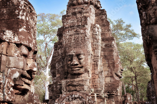 Photo Ancient ruins of angkor wat temple complex