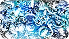 Sea Life Hand Drawn Doodle Ban...