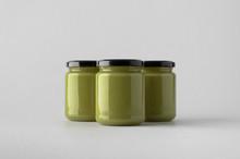 Pumpkin / Hemp Seed Butter Jar Mock-Up - Three Jars