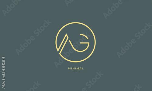 Photo Alphabet letter icon logo AG