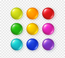 Button Set Isolated On Transpa...