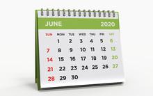 Desk Calendar JUNE 2020