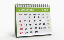 Desk Calendar SEPTEMBER 2020